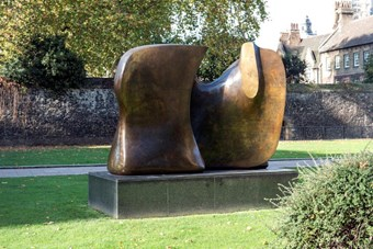 Knife Edge Two Piece by Henry Moore, Westminster, 1967. Listed Grade II* © Historic England
