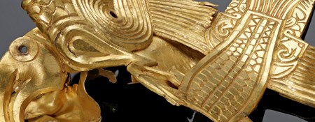 Detail of an artefact from the Staffordshire Hoard.