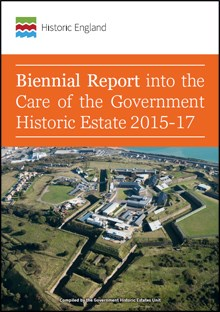 Front cover for Biennial Report for Care of the Government Historic Estate 2015-17